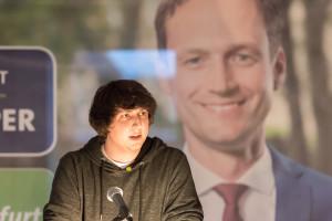 Grünen-Sprecher Johannes Weiß spricht Grußwort