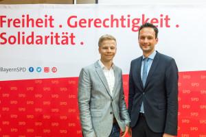 Florian Töpper mit Bürgermeisterkandidat Benedikt Müller, Schwebheim