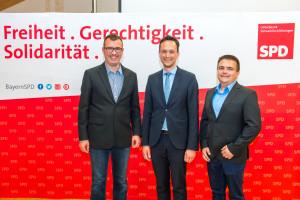 Florian Töpper mit Sven Dünisch und Sebastian Endres aus Schwanfeld
