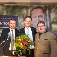 v.li. Stefan Rottmann, Landrat Florian Töpper und den Kreisvorsitzenden Kai Niklaus.