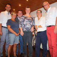 v.li.: Landrat Florian Töpper, Renate Guggenbichler, Kreisvorsitzender Kai Niklaus, Heike Joos, Martina Braum und Fraktionsvorsitzender Hartmut Bräuer
