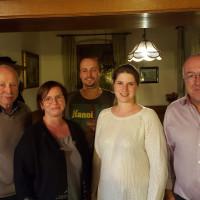 Bürgermeister Peter Pfister, Tanja Gluza, Manuel Ehni, Diana Zerner und Bürgermeisterkandidat Bernd Pfeuffer